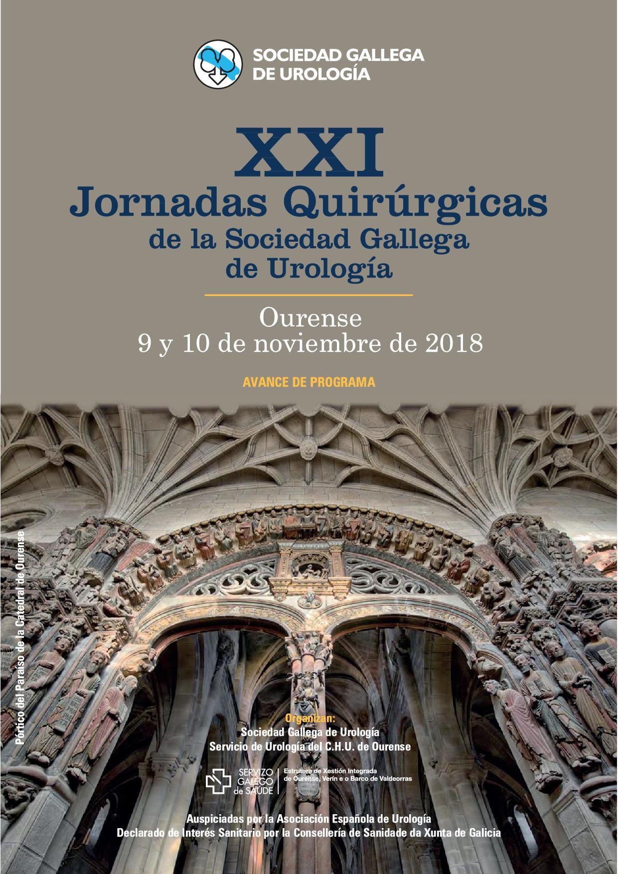 XXI Jornadas Quirúrgicas de la Sociedad Gallega de Urología